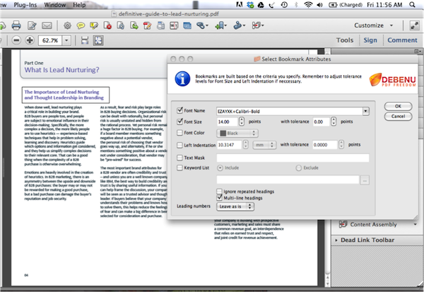Add Bookmarks to PDF 12