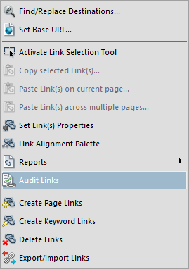 Check for broken bookmarks and links using Debenu PDF Aerialist's Audit Links Tool