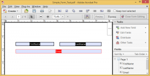 Blank PDF form with form fields highlighted.