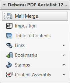 Mail Merge in the Tools menu.