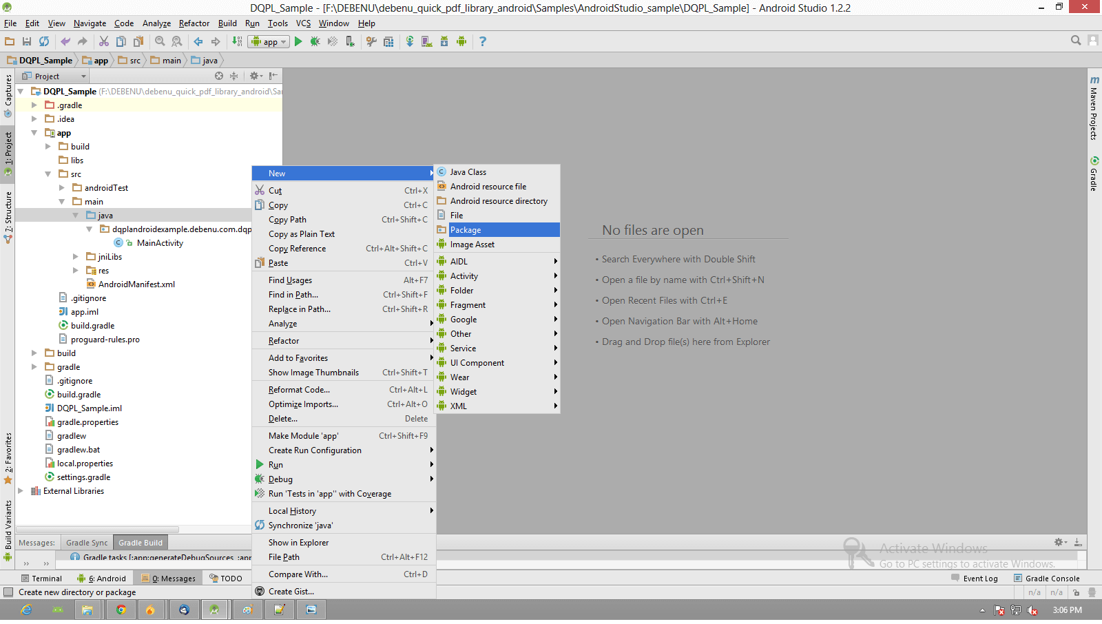 Setup Android Studio and Debenu Quick PDF Library - Foxit