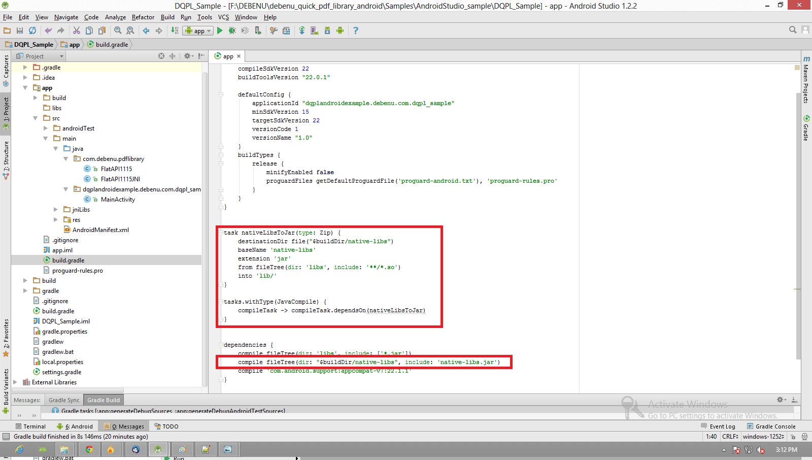 Setup Android Studio and Debenu Quick PDF Library - Foxit