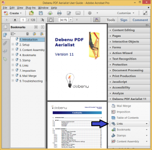 Links-related features in Debenu PDF Aerialist