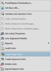 Create Page Links feature in Debenu PDF Aerialist.