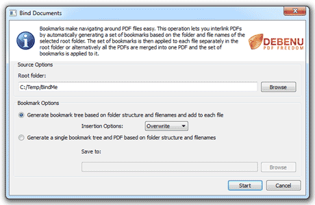 Bind Documents Dialog Screenshot