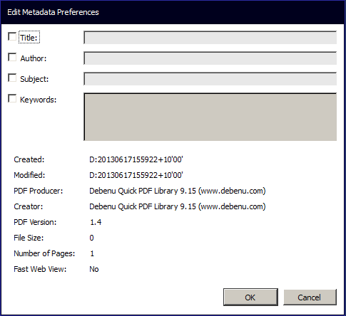 Screenshot of Edit Document Metadata dialog